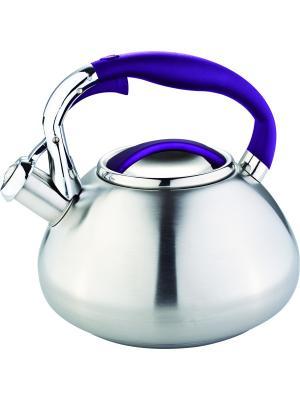 Чайник со свистком 3литра. RAINSTAHL. Цвет: темно-фиолетовый