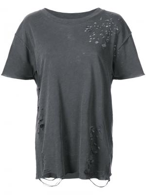 Distressed T-shirt NSF. Цвет: чёрный