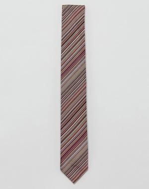 Paul Smith Шелковый галстук в полоску. Цвет: мульти