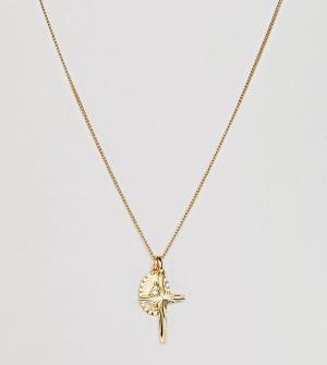 Rock 'N' Rose Позолоченное ярусное ожерелье N. Цвет: золотой