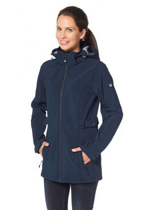 Куртка POLARINO. Цвет: темно-синий меланжевый