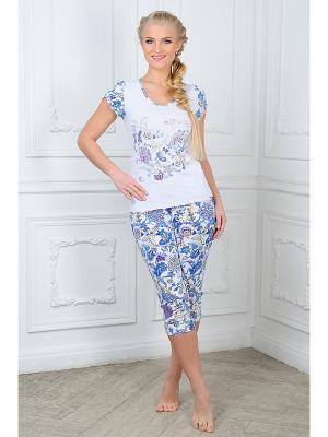 Пижама Mia Cara. Цвет: белый, синий