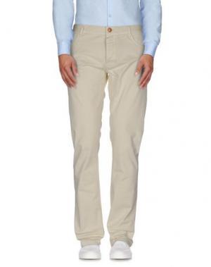 Повседневные брюки HISTORIC RESEARCH. Цвет: слоновая кость