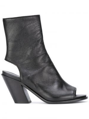 Ботинки с вырезными деталями A.F.Vandevorst. Цвет: чёрный