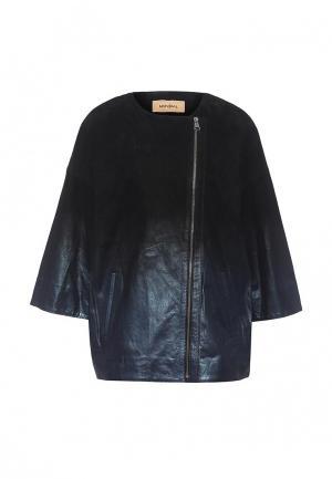 Куртка кожаная Mondial. Цвет: синий