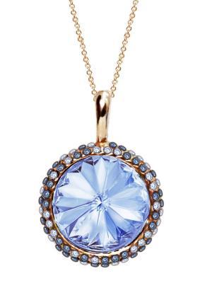 Кулон Enigme с голубыми кристаллами Swarovski Mademoiselle Jolie Paris. Цвет: синий, лазурный, морская волна, бирюзовый, серо-голубой, голубой, сиреневый, золотистый, желтый