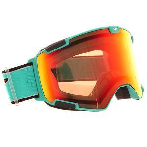 Маска для сноуборда  Bomber Slick Acw Silver/Smoke I/S Eyewear. Цвет: голубой,зеленый