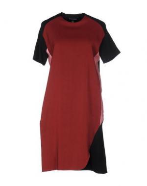 Короткое платье OSTWALD HELGASON. Цвет: кирпично-красный