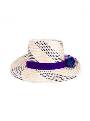 Шляпа с лентой Yosuzi. Цвет: многоцветный