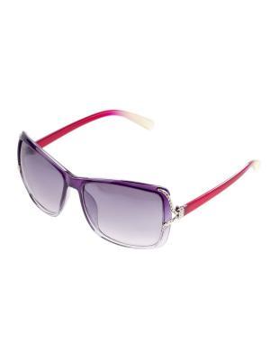 Солнцезащитные очки. Bijoux Land. Цвет: фиолетовый, красный