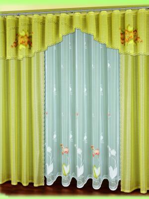 Комплект штор для гостиной Haft. Цвет: оливковый