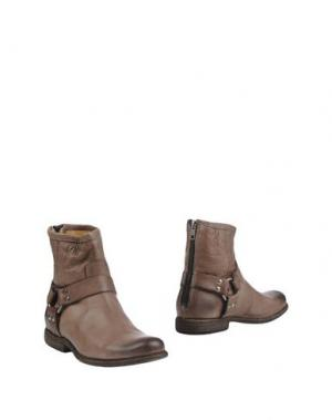 Полусапоги и высокие ботинки FRYE. Цвет: свинцово-серый