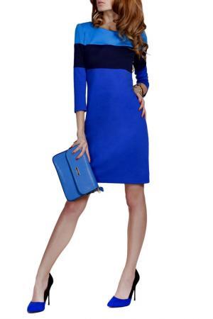 Платье FRANCESCA LUCINI. Цвет: ярко-синий, темно-синий, голуб
