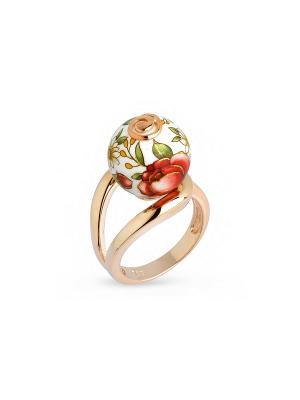 Кольцо Японские цветы. Цвет: темно-бежевый, кремовый, бронзовый