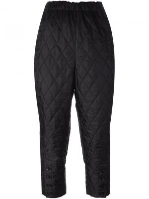 Стеганые брюки-шаровары Comme Des Garçons. Цвет: чёрный