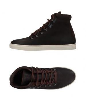 Высокие кеды и кроссовки N.D.C. MADE BY HAND. Цвет: темно-коричневый