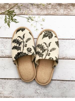 Обувь домашняя женская Plush. Цвет: бежевый