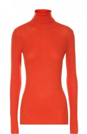 Шерстяная водолазка фактурной вязки Diane Von Furstenberg. Цвет: оранжевый