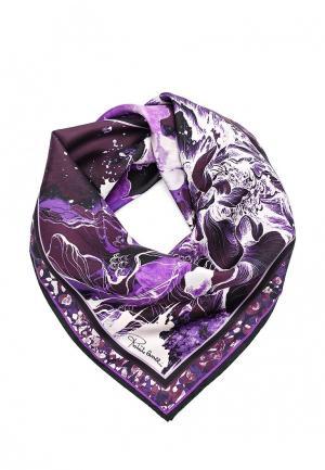 Платок Roberto Cavalli. Цвет: фиолетовый