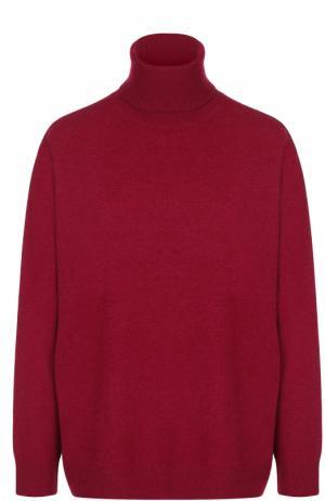 Шерстяной свитер свободного кроя с высоким воротником Dries Van Noten. Цвет: бордовый