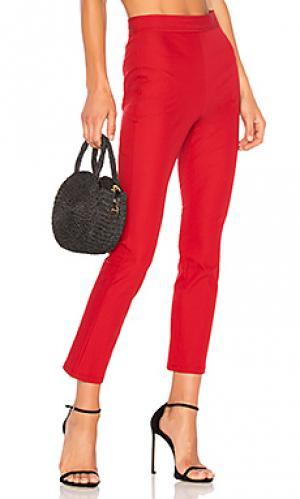 Укороченные расклешенные брюки bimsa Theory. Цвет: красный