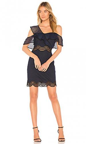 Платье с одним плечом luca SAYLOR. Цвет: синий
