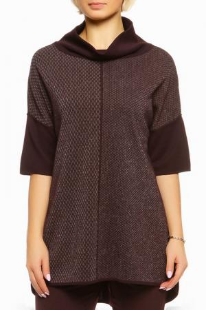 Пуловер Shes so. Цвет: темно-бордовый