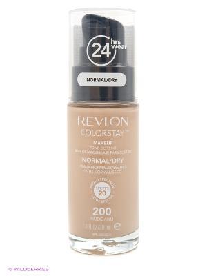 Тональный крем для норм-сух кожи Colorstay Makeup For Normal-Dry Skin, Nude 200 Revlon. Цвет: бежевый