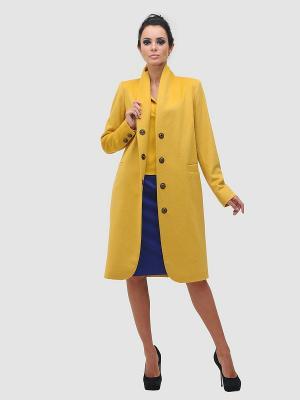 Пальто DuckyStyle. Цвет: горчичный