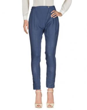 Повседневные брюки EMMA&GAIA. Цвет: грифельно-синий