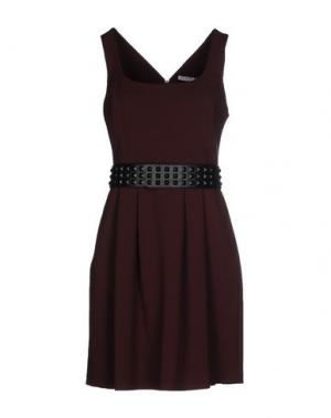 Короткое платье HOPE COLLECTION. Цвет: баклажанный