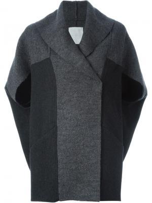 Пальто с панельным дизайном Demoo Parkchoonmoo. Цвет: серый
