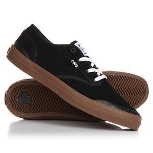 Кеды кроссовки низкие  Cedar Black Suede DVS. Цвет: черный