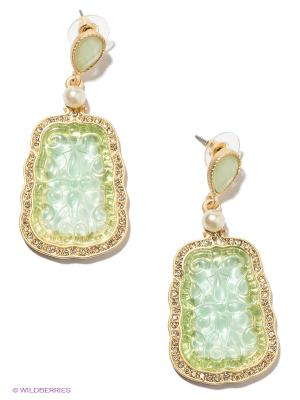 Серьги Milana Style. Цвет: светло-зеленый