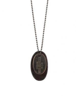 Ожерелье DSQUARED2. Цвет: темно-коричневый