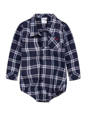 Рубашка-боди Endo. Цвет: синий, белый