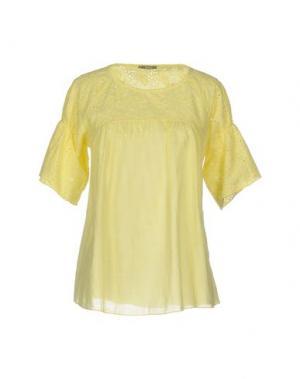Блузка DIXIE. Цвет: желтый