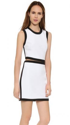 Платье без рукавов KAUFMANFRANCO. Цвет: оптический/черный