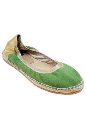 Балетки Kanna. Цвет: зеленый