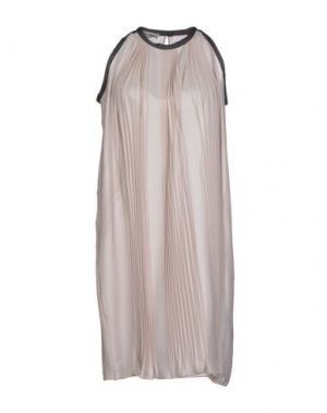 Короткое платье BLUE DEEP. Цвет: бежевый