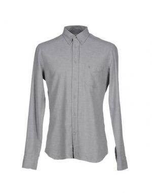 Pубашка M.GRIFONI DENIM. Цвет: серый