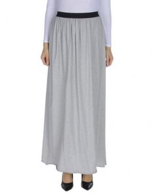 Длинная юбка GOLD CASE. Цвет: светло-серый