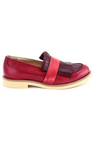 Туфли Elena. Цвет: красный