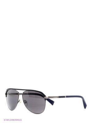 Очки солнцезащитные BLD 1515 104 Baldinini. Цвет: синий, черный