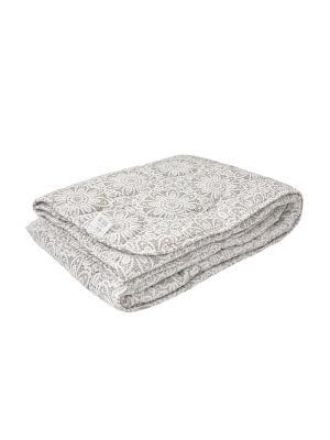 Одеяло облегченное 150г/м, 1,5-сп, ЛЁН, ткань-ранфорс, хлопок-100%, наполнитель-льняное волокно Verossa. Цвет: бежевый, белый