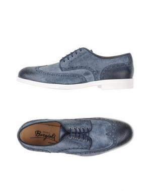 Обувь на шнурках BORGIOLI. Цвет: грифельно-синий