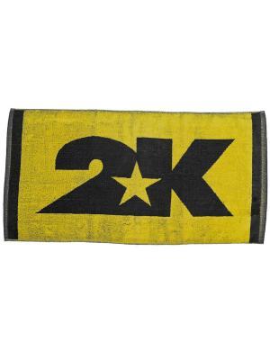 Полотенце махровое Bari 40x80см 2K. Цвет: желтый, черный