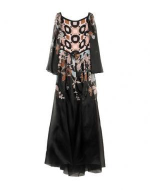 Длинное платье ELIE SAAB. Цвет: черный