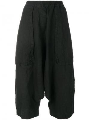 Cropped drop-crotch trousers Rundholz Black Label. Цвет: чёрный