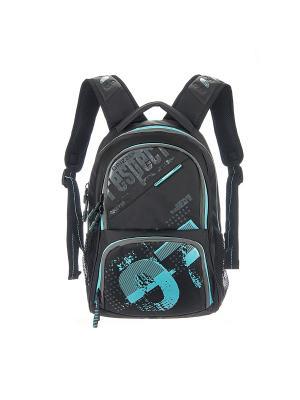 Рюкзак Grizzly. Цвет: черный, голубой